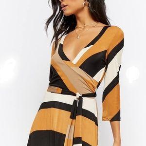 Forever 21 Dresses - FOREVER 21   striped surplus maxi dress
